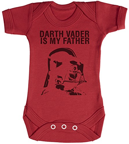 Baby Buddha Darth Vader is My Father Body bébé - Gilet bébé - Body bébé Ensemble-Cadeau - Naissance Rouge