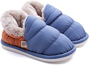 Soft Down House Slippers,Warm Plus Velvet Waterproof Non-slip Down Slippers,All-inclusive Panda Down Cotton Slippers