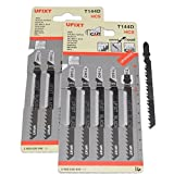 Jigsaw Blades T144D for High Speed Wood Cutting High Carbon Steel HCS 10 Pack Fits AEG, Black & Decker, Bosch, Dewalt, Elu, Festool, Hitachi, Makita, Metabo and Skil by <span class='highlight'><span class='highlight'>Yourspares</span></span>