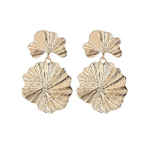 Pendientes grandes de metal vintage de lujo de la flor steampunk para las mujeres oro geométrico punk colgante pendiente Brincos regalo