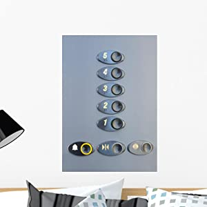 Wallmonkeys Elevator Buttons Wall Decal Peel and Stick Graphic WM33915 (24 in H x 17 in W)