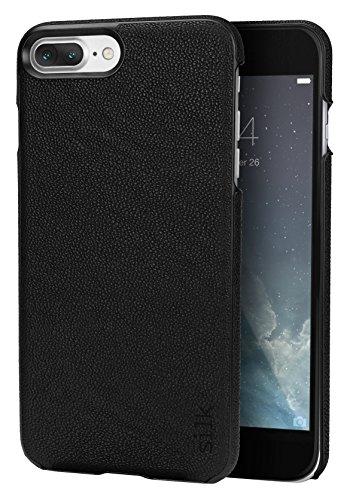 Capa de seda para iPhone 8 Plus/7 Plus Fashion – Capa Sofi para iPhone 8 Plus/7 Plus (capa fina e leve com aderência de vidro) – Gravata preta