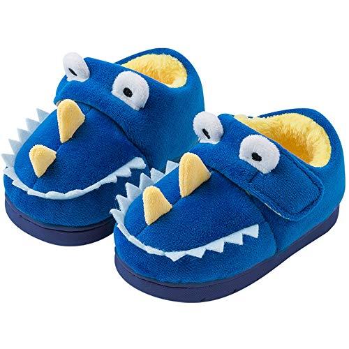 Pantofole Bambini Inverno Ragazze Ragazzi Peluche Bambino Ciabatte Warm Scarpe Cotone Antiscivolo Scarpe Blu Navy 25/26 EU Lunghezza del Piede 170mm