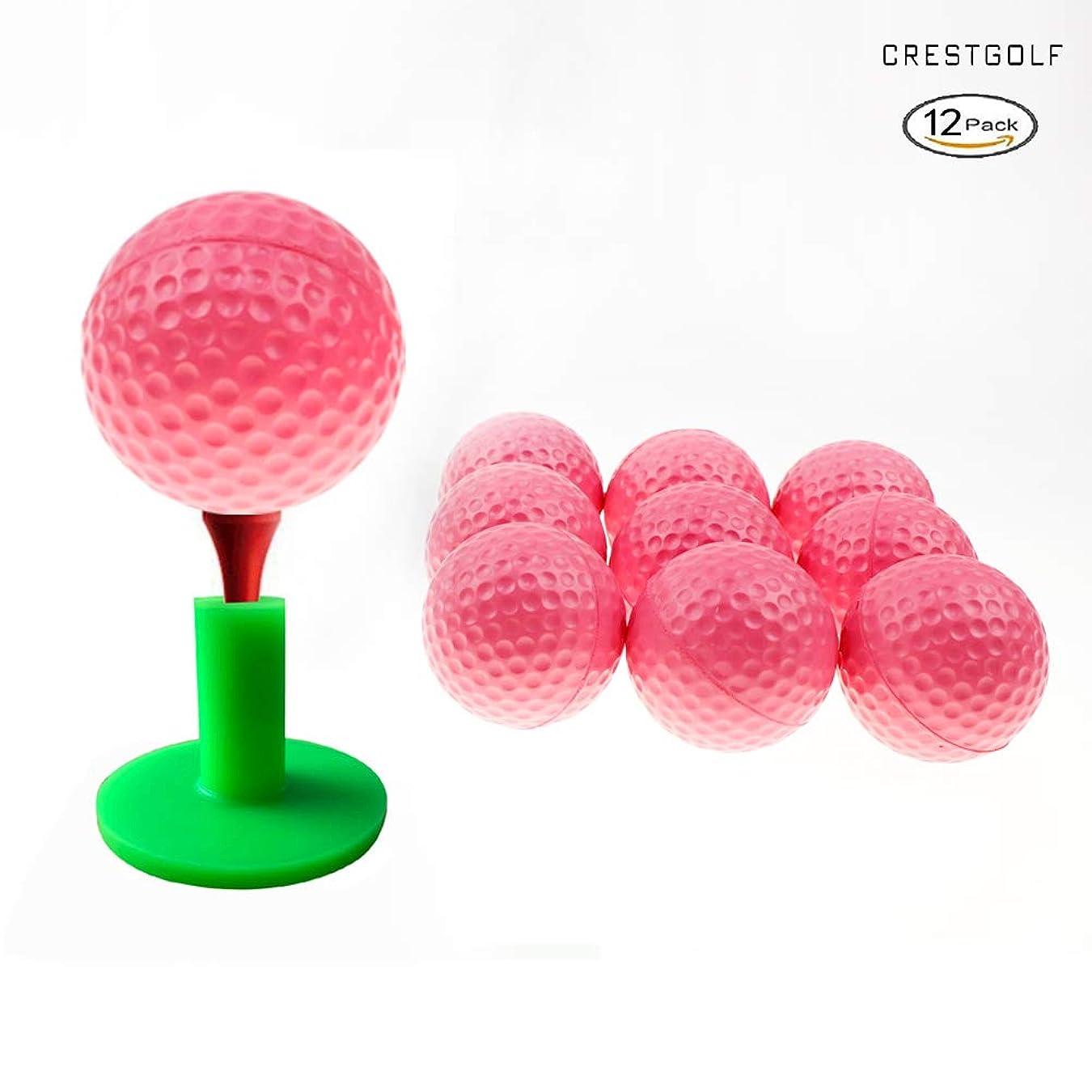 冊子吸うベスビオ山クレストゴルフフォームスポンジ練習ボール12個入り(ピンク)