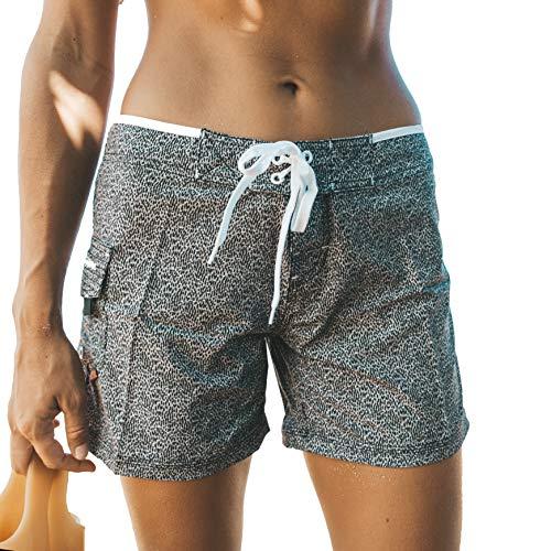 "Maui Rippers Women's 5"" 4-Way Stretch Swim Shorts Boardshorts"