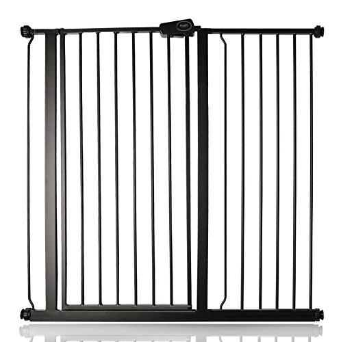 Bettacare Enfant et Animal Barrière de Sécurité Noire Mat 107.4cm - 115cm