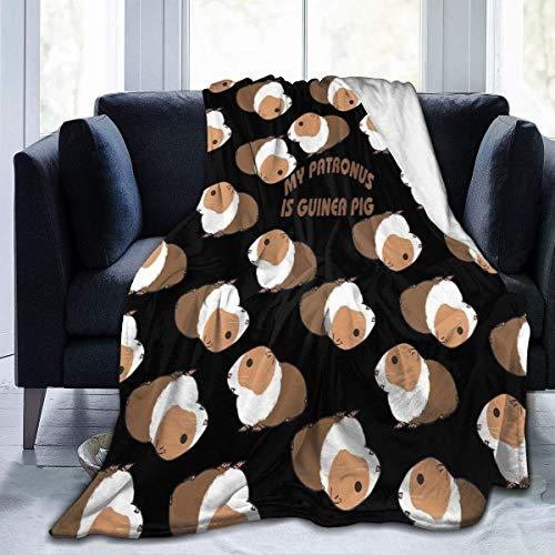 Blanket My Patronus is Guinea Pig Throw Blanket Ultra Soft Velvet Blanket Lightweight Bed Blanket Quilt Durable Home Decor Fleece Blanket Sofa Blanket Luxurious Carpet for Men Women Kids