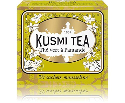 Kusmi Tea – Grüntee mit Mandelgeschmack – 20 Teebeutel aus Musselin