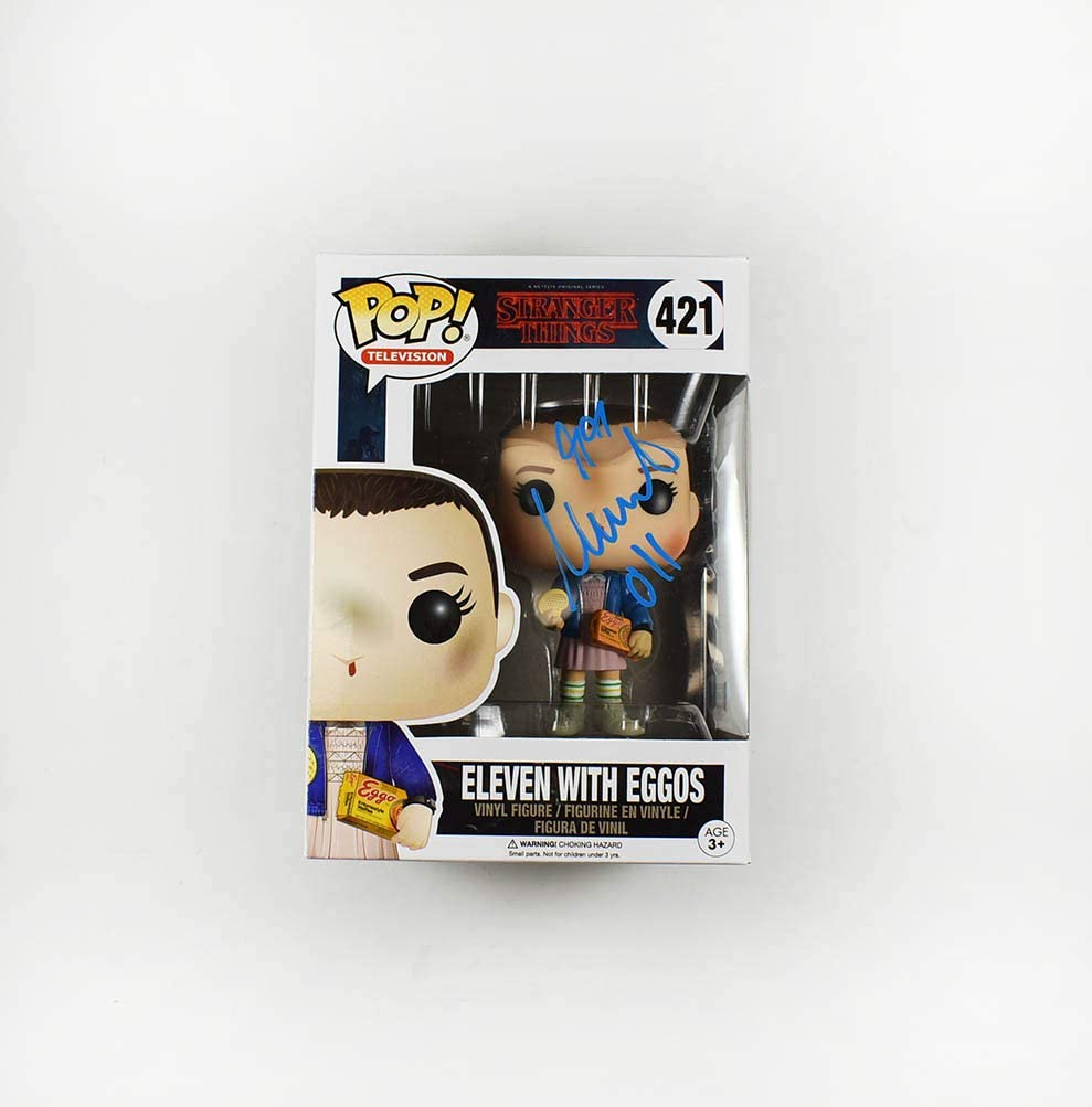 Millie Bobby Brown Signed Funko Super Mesa Mall beauty product restock quality top Certified Pop Beckett Authentic