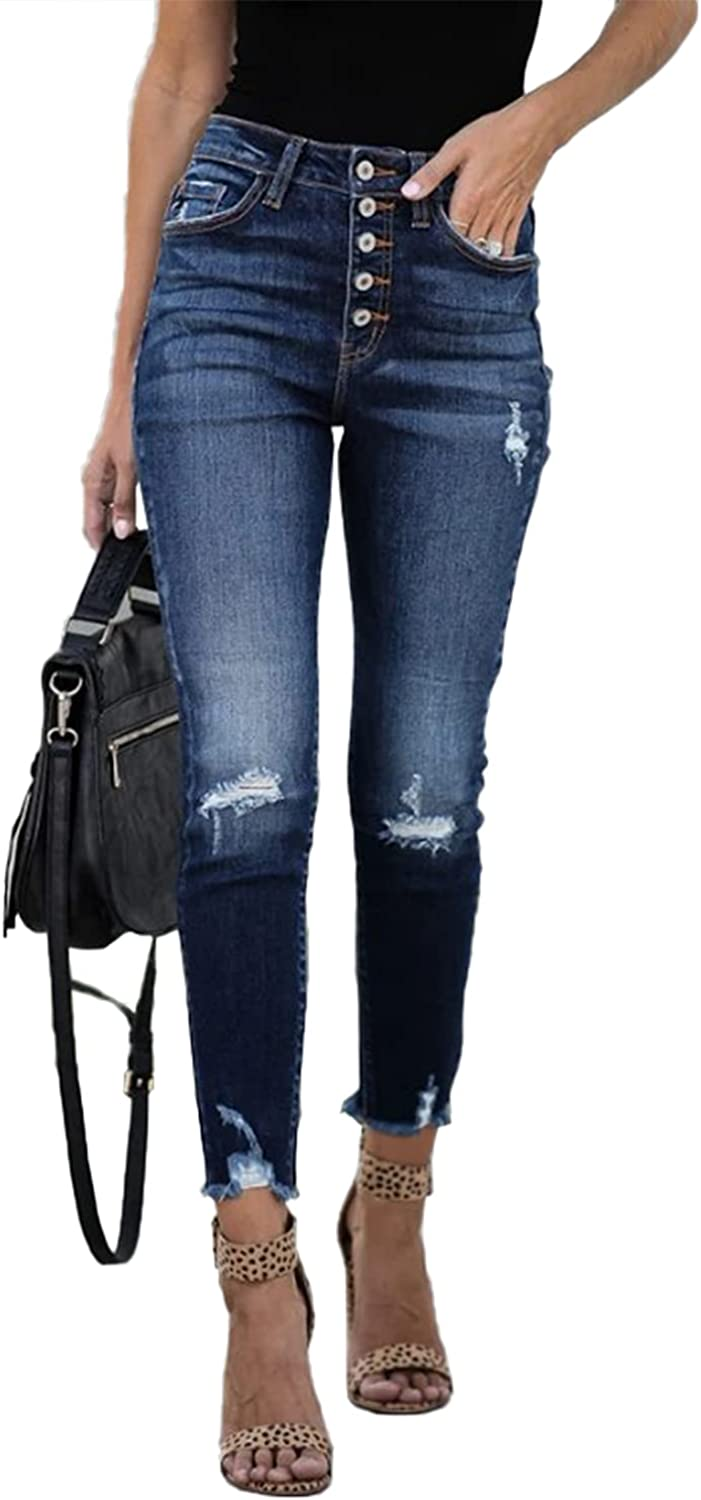 Cisisily Women's Ranking TOP18 Modern Stretch Skinny Jeans High Sales for sale Waist