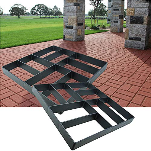 Awaken Patio Concrete Pavers, Concrete Molds and Forms, Cement Molds for Walkways, Stepping Stone Walk Maker Garden Path Mold, Heavy Duty Plastic, Durable, Resusable, Pack of 2 (15.7'x15.7')