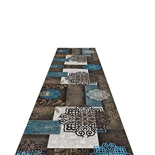 Teppich Läufer Patchwork Flur, rutschfeste Küchenmatten, Vintage Style Pattern Idea für Korridor, 60/80/90/100/120 cm Breit (Size : 120X300cm)