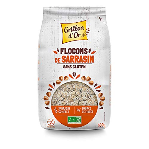GRILLON D'OR - Flocons De Sarrasin Sans Gluten 500G - Lot De 2