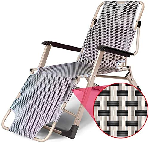 Mirui Silla Camping Plegable sillas Plegables Camping Plegable de jardín Tumbona al Aire Libre salón de Sun reclinable con Original Almohada for Camping Picnic en la Playa