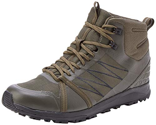 The North Face M LW Fp II Mid GTX, Botas de Senderismo Hombre, Verde (New Taupe Green/TNF Black Bqw), 43 EU