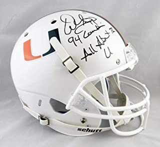 Warren Sapp Signed F/S Miami Hurricanes White Helmet W/ 2 Insc- JSA W Auth Blk 94/AATU