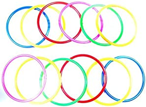 Eforstore 10pcs Small/Medium/Large Size Colorful Plastic Toss Rings For Speed and Agility Practice Sport Outdoor Games
