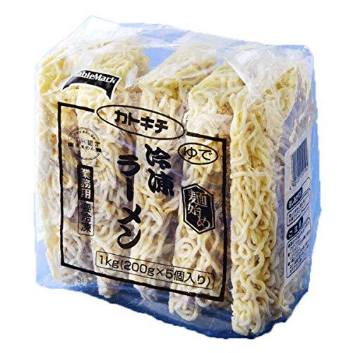 【冷凍】テーブルマーク 麺始め 冷凍ラーメン カトキチ 200g×5個 1000g 業務用 冷凍麺