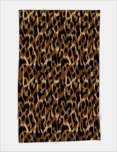 Minicoso Bath Towel leopard pattern vector illustration seamless print wallpaper background texture 622595792 For Spa Beach Pool Bath