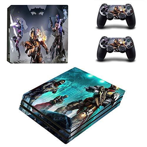 FENGLING Game Destiny 2 PS4 Pro Skin Sticker Aufkleber für Playstation 4 Konsole und 2 Controller PS4 Pro Skin Sticker Vinyl Zubehör