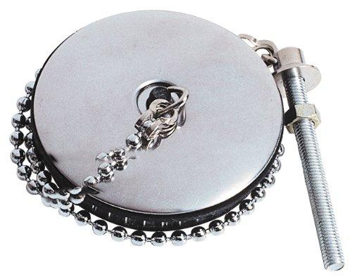 Wirquin 39203002 Abflussstöpsel mit Kette und Befestigungsschraube, Maße: 5x50mm