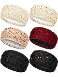 6 Pieces Winter Knitted Headband Crochet Headband...