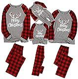 XmasPJS Christmas Family Matching Pajamas Sets Santa's Deer Sleepwear for The Family Boys