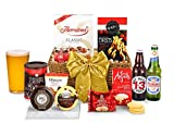 Oxford Hamper With Beer - Hand Wrapped Gourmet Food Basket, in Gift Hamper Box