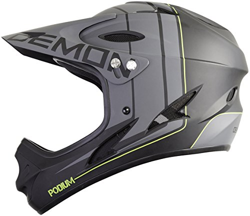 Demon Podium Full Face Mountain Bike Helmet (Black, XL)