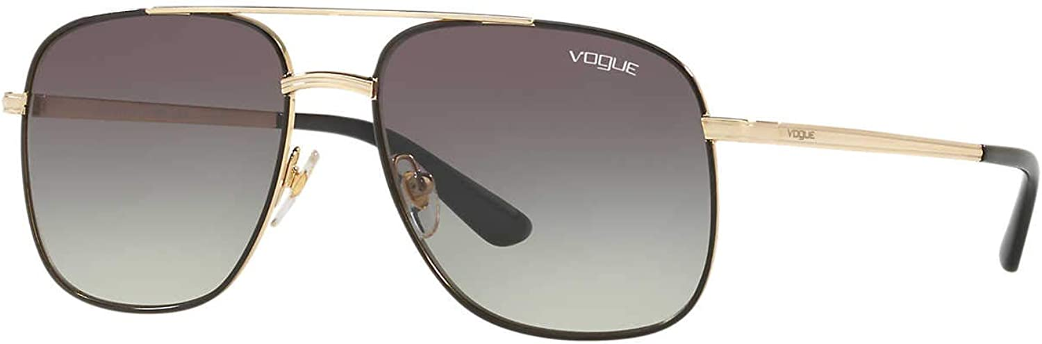 Vogue Womens Sunglasses gold Grey Metal  NonPolarized  55mm