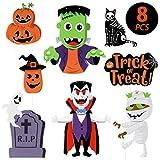 IMIKEYA 8 Piezas Signos de Patio de Halloween Signos de pubblicità de Acera Espeluznante ...