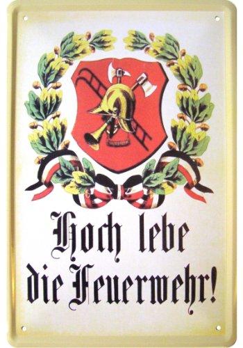 TECHNIK, ARMY, FERNWEH Feuerwehr Motiv Deko Blechschild