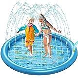 TaimeiMao Splash Pad, 170CM Wasserspielzeug Garten,Outdoor Garten Splash Spielmatte,Sprinkler Wasser-Spielmatte Splash Play Matte,Baby Pool Pad,Sommer Garten Wasserspielzeug für Kinder