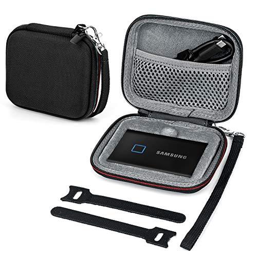 Fromsky Tasche Hülle für Samsung T7/ T7 Touch Portable SSD, Hart Reise Tragen Hülle Etui (Dark Gray)