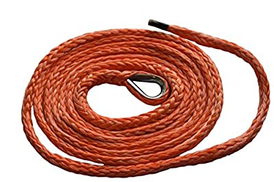 """QIQU 1/4"""" 10ft ATV Plow Lift Rope,Snow Plow Lift Rope,Synthetic Rope,Snow Plow Attachments"""