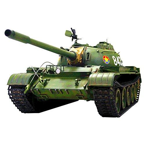 HOOBEN 1:16 T55A RUSSISCH T-55 A MEDIUM Tank RC Dynamische Tanks KIT mit Metallgetriebe, Metallfass, Metallkettenrad und Idler und Metall Suspension C6602K 1/16