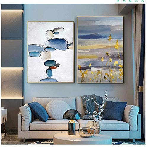 Canvas Art Walls Painting 2x60x80cm(23.6x31.5in) no frame Modern Abstract Stones Posters and Print Decoration Home Decor Pictures for Living Room