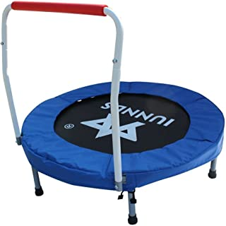 """KLB Sport 36"""" Mini Foldable Trampoline with Handrail for Kids Ages 3 to 8"""