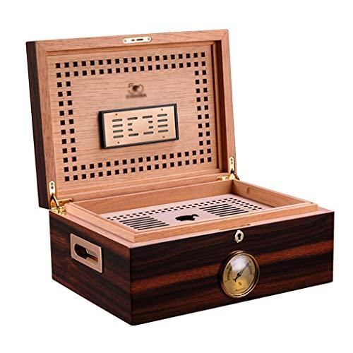 Rangements Double Cave À Cigares Humidificateur Cedarwood Boîte À Cigares De Grande Capacité Boîte À Cigares Équipé D'un Humidificateur Et D'un Thermomètre Cadeau ( Color : Brown , Size : 28*38*16cm )