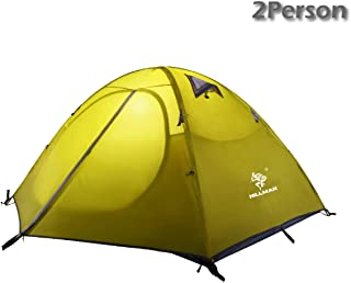 Azarxis 1 2 3 Person 3 Season Professional Backpacking Tent, Dome Tents Easy Setup & UPF 50+ UV Protection Sun Shelter & Double Layer & Waterproof for Camping Hiking Traveling with Carry Bag