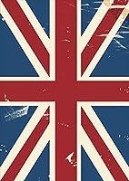 ポスター ウォールステッカー シール式ステッカー 飾り 148×210㎜ A5 写真 フォト 壁 インテリア おしゃれ 剥がせる wall sticker poster pa5wsxxxxx-011607-ds イギリス 外国 国旗