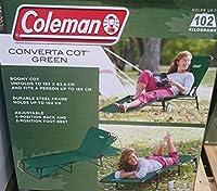 Coleman コールマン コンバータ コット グリーン 折り畳み式ベッド 耐荷重102.1kg