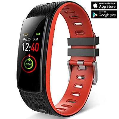 Fitness Tracker Watch,Heart Rate Monitor Color Screen,7 Sports Modes?Activity Tracker with Heart Rate Monitor,Step Counter,GPS Tracker,IP67 Waterproof Smart Wristband for Android and iOS
