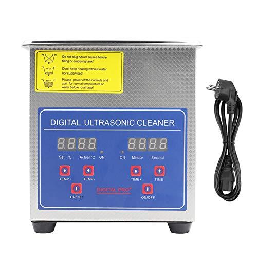 Limpiador industrial ultrasónico de acero inoxidable con temporizador y pantalla digital, dispositivo profesional con calentamiento 1.3l