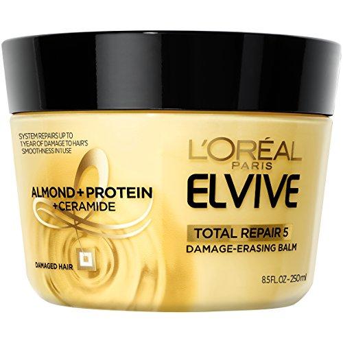 L'Oreal Paris Hair Care Elvive Total Repair 5 Damage-Erasing Balm, Almond and Protein, 8.5...