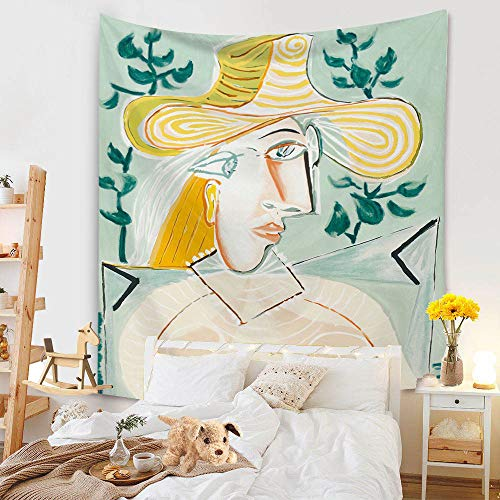 ydlcxst Tapestry Fashion Girl Tapestry Nordic Bohemian Printed Green Plants Decoration Room Bedroom Tapestry 140X210Cm /12606