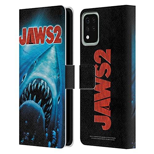 Head Case Designs Licenza Ufficiale Jaws Poster Nuoto II Arte Logo Cover in Pelle a Portafoglio Compatibile con LG K42 / K52 / K62