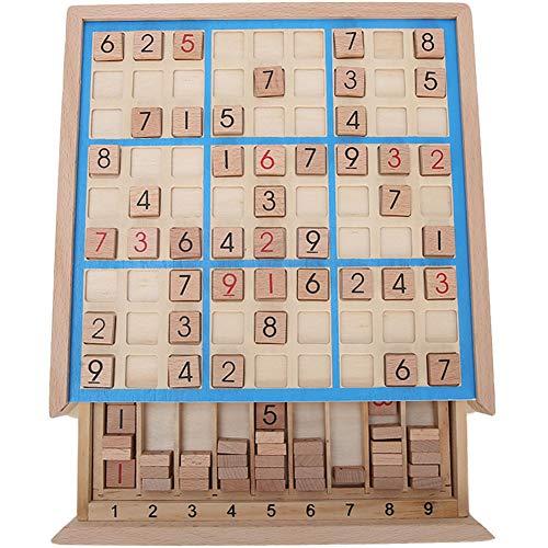 Garosa Juego de Mesa Sudoku de Madera con cajón y 81 Bloques...