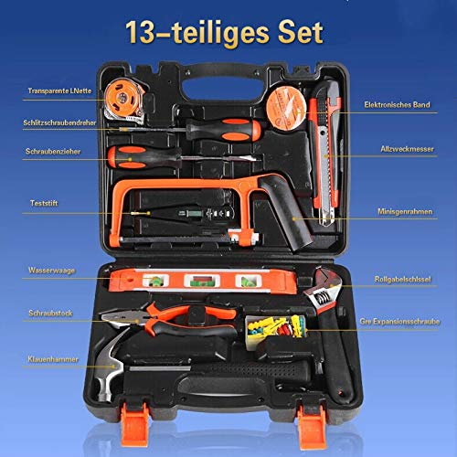 Manuelles Hardware-Werkzeugset Holzbearbeitung Elektrowerkzeugkasten Haushaltsset Kombination Reparaturwerkzeug Geschenkset