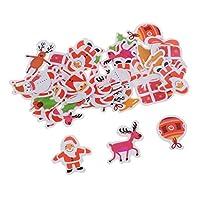 joyMerit 50ピース/個クリスマスステッカークリスマス要素粘着ステッカーギフトペースターベーキング梱包ラベルラッピングステッカー包装封筒シール防水 - スタイル2
